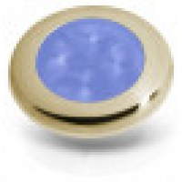Hella slimline gold rim blue LED