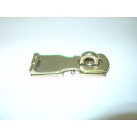Hasp and Staple shaped polished brass