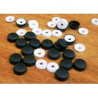 Screw Caps and Washers 10mm Black pack of 20