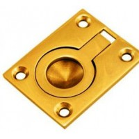 Flush Ring Polished brass 38mm x 29mm