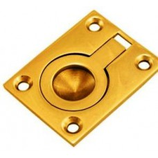 Flush Ring Polished brass  63mm x 51mm