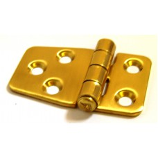 Brass hinge with short end