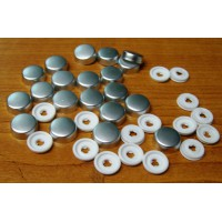 Screw Caps and Washers 10mm Metallic pack of 20