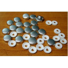 Screw Caps and Washers 10mm Metallic pack of 50