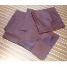 Brown Leather Cushion covers