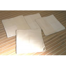 Cream Leather Cushion covers