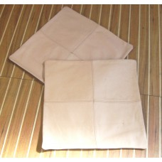 Beige Leather Cushion covers