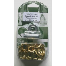 Brass Sail Eyelet Kit 24B