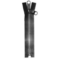 Canopy zip open ended Black 122cms