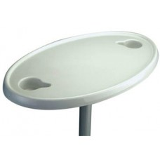 Oval Plastic Table complete with Pedestal