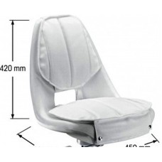 Admiral bucket Seat with white vinyl covers
