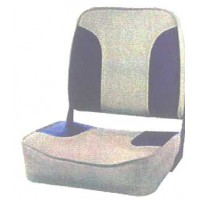 Folding Low Back Seat in grey and blue