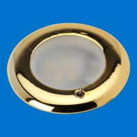 Recessed LED Lamp Brass Rim
