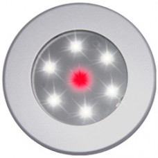 Recessed white/red LEDs Lamp Chrome Rim W