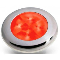 Hella slimline S/S rim red LED