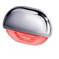 Hella easy fit step lights Chrome cap Red LED