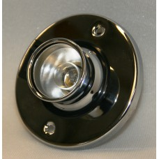 Chrome finish recessed eyeball lamp