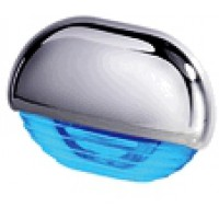 Hella easy fit step lights Chrome cap BLUE LED