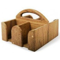 Teak Carry holdall for 4 mugs T269