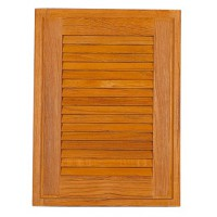 Teak Louvred Door 380mm x 380mm