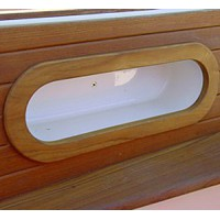 Teak Cockpit side trim frame