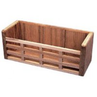 Teak Holdall Rack Slatted Front 280mm