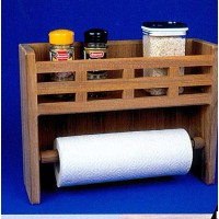 Teak Spice and Paper Towel Rack slatted front