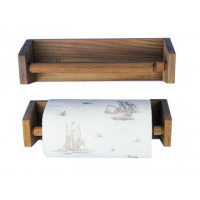 Teak Paper Towel Holder Slim