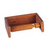 Teak toilet roll holder mini