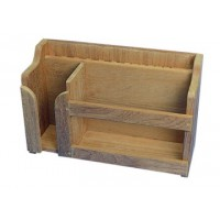 Teak Plate, Cutlery and Cup Rack