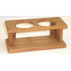 Teak Two Glass Rack