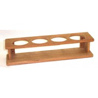 Teak bottle rack for 4 bottles