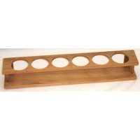 Teak six Glass Rack
